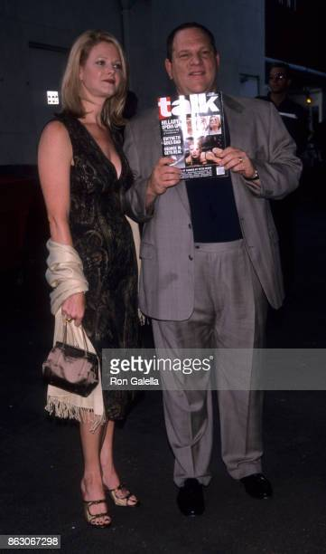 Eve Chilton Weinstein and Harvey Weinstein attend Talk Magazine Launch Party on August 2 1999 at Liberty Island in New York City