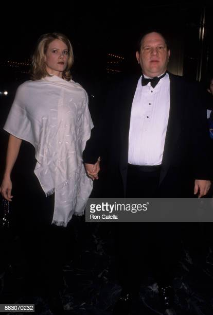 Eve Chilton Weinstein and Harvey Weinstein attend White Rose Awards Benefit Dinner on December 1 1998 at the Marriot Marquis Hotel in New York City
