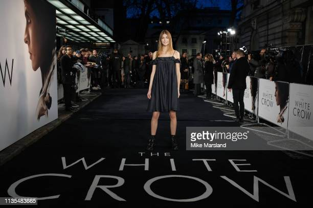 """Eve Delf attends """"The White Crow"""" UK Premiere held at The Curzon Mayfair on March 12, 2019 in London, England."""