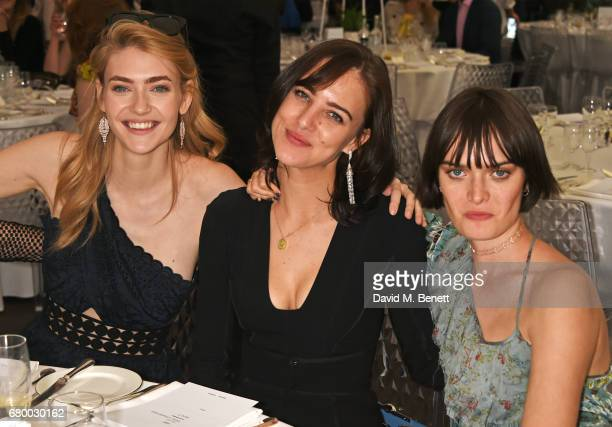 Eve Delf Eliza Cummings and Sam Rollinson attend the Audi Polo Challenge at Coworth Park on May 7 2017 in Ascot United Kingdom