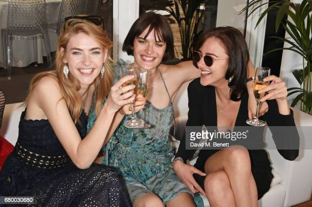 Eve Delf Sam Rollinson and Eliza Cummings attend the Audi Polo Challenge at Coworth Park on May 7 2017 in Ascot United Kingdom
