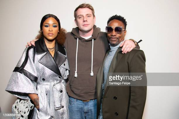 Eve Designer Jonathan Anderson and Ncuti Billy Porter backstage after 'JW Anderson' fashion showduring London Fashion Week February 2020 on February...