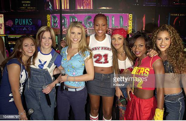 Eve Dream 3LW during MTV's 'TRL' Tour July 12 2001 at MTV Studios in New York City New York United States