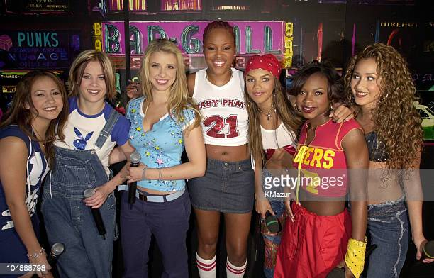 Eve Dream 3LW during MTV's TRL Tour July 12 2001 at MTV Studios in New York City New York United States