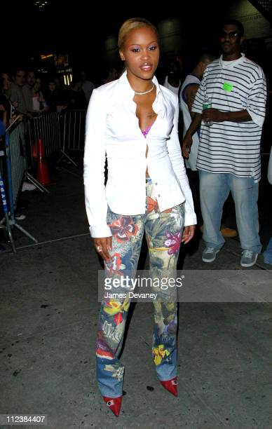 Eve during Eve Bruce Willis and Miss America Erika Harold Visit the 'Late Show with David Letterman' September 23 2002 at Ed Sullivan Theatre in New...