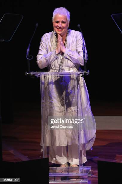 Eve Ensler accepts the Lifetime Achievement Award onstage at the 33rd Annual Lucille Lortel Awards on May 6 2018 in New York City
