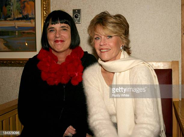 Eve Ensler and Jane Fonda during 2004 Sundance Film Festival Special Screening Until the Violence Stops at Yarrow in Park City Utah United States
