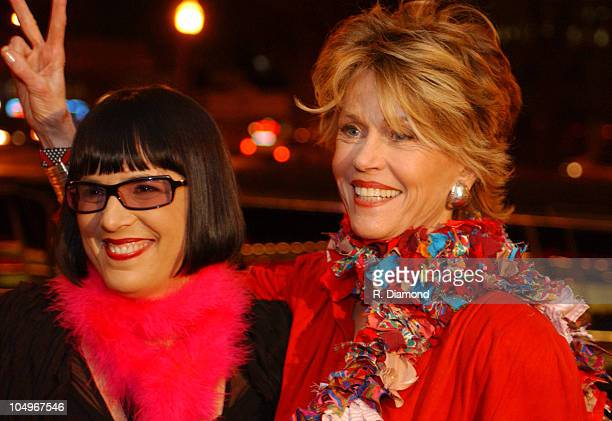 Eve Ensler and Jane Fonda during VDAY Atlanta 2004 at The CocaCola Roxy Theatre in Atlanta Georgia United States
