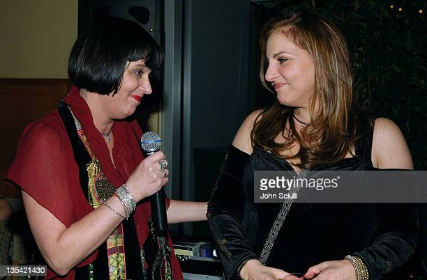 Eve Ensler and Kathy Najimy during Eve Ensler's The Good Body Opening Night Benefit for VDay LA 2006 After Party at Napa Valley Grille in Los Angeles...