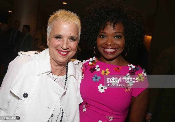 Eve Ensler and LaChanze pose at The 2018 Drama League Awards at The Marriott Marquis Times Square on May 18 2018 in New York City
