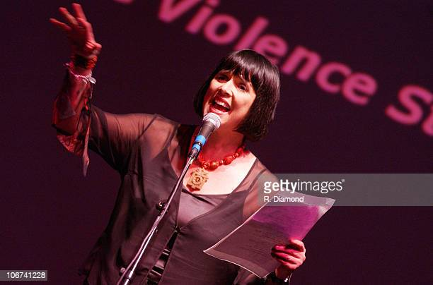 Eve Ensler during VDAY Atlanta 2004 at The CocaCola Roxy Theatre in Atlanta Georgia United States