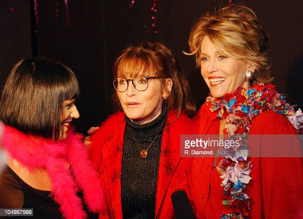 Eve Ensler Margot Kidder and Jane Fonda during VDAY Atlanta 2004 at The CocaCola Roxy Theatre in Atlanta Georgia United States