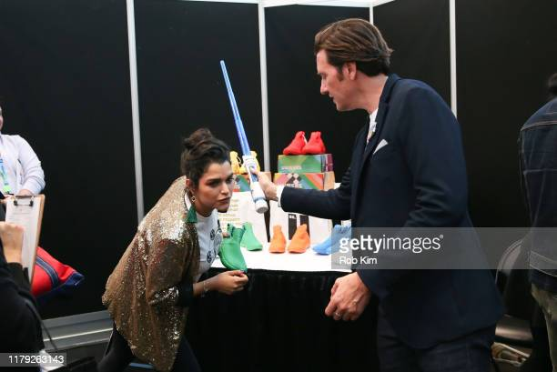 Eve Harlow and Jason Butler Harner attend Day 2 of Backstage Creations Celebrity Retreat at New York Comic Con on October 05 2019 in New York City