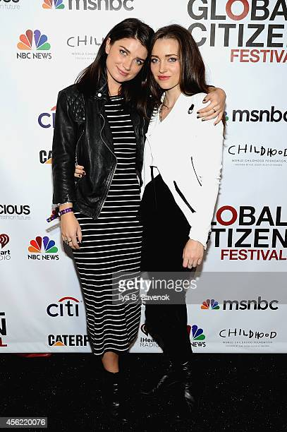 Eve Hewson and Jordan Hewson attend VIP Lounge at the 2014 Global Citizen Festival to end extreme poverty by 2030 in Central Park on September 27...
