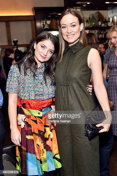 Eve Hewson and Olivia Wilde attend Through Her Lens The Tribeca Chanel Women's Filmmaker Program luncheon at Locanda Verde on October 26 2015 in New...