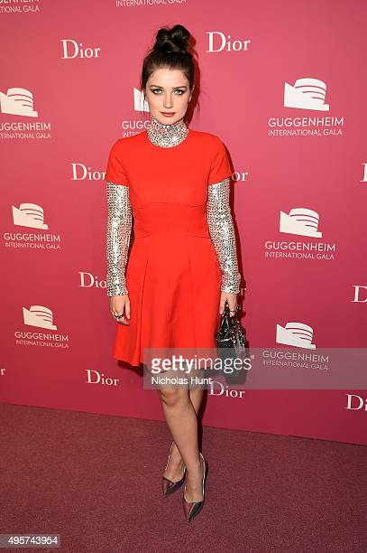 Eve Hewson attends the 2015 Guggenheim International Gala PreParty made possible by Dior at Solomon R Guggenheim Museum on November 4 2015 in New...