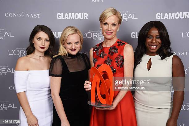 Eve Hewson Elisabeth Moss Cecile Richards and Uzo Aduba attend the 2015 Glamour Women Of The Year Awards at Carnegie Hall on November 9 2015 in New...