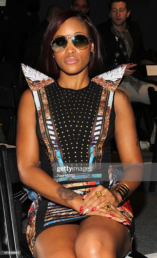 Eve Jeffers attends Falguni & Shane Peacock during Fall 2013 Mercedes-Benz Fashion Week at The Studio at Lincoln Center on February 13, 2013 in New York City.