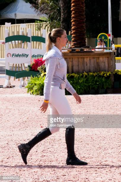 Eve Jobs during the $70000 Hollow Creek 150M Classic at the Winter Equestrian Festival at The Palm Beach International Equestrian Center in...