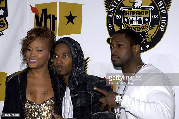 Eve, Juelz Santana and Freekey Zekey attend VH1's Fifth Annual Hip Hop Honors Awards at Hammerstein Ballroom on October 2, 2008 in New York City.