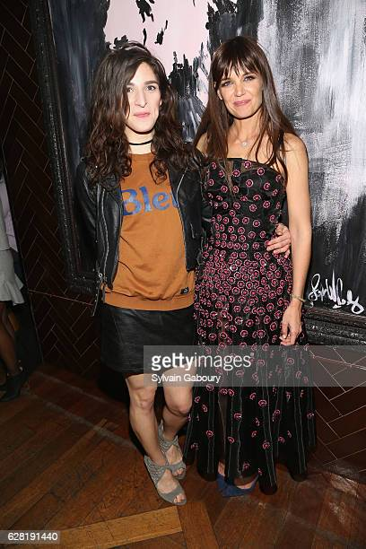 Eve Lindley and Katie Holmes attend The Cinema Society Ruffino Host the After Party for All We Had at Jimmy At The James Hotel on December 6 2016 in...