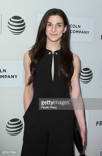 Eve Lindley attends premiere All we had movie at Tribeca film festival at BMCC