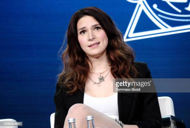 Eve Lindley of 'Dispatches from Elsewhere' speaks onstage during the AMC Networks portion of the Winter 2020 TCA Press Tour on January 16 2020 in...