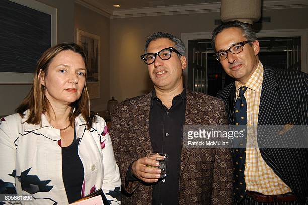 Eve MacSweeney Bob Morris and Jeffrey Podolsky attend Salvatore Ferragamo and Allison Sarofim celebrate the publication of The Debutante Divorcée by...