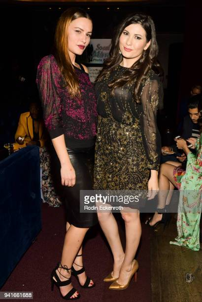 Eve Mauro and Celeste Thorson pose for portrait at Regard Magazine Spring 2018 Cover Unveiling Party presented by Sony Studios featuring the cast of...