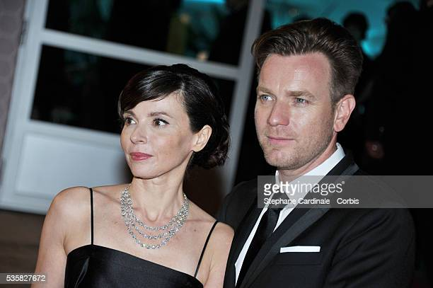 Eve Mavrakis and Ewan McGregor at Winners Dinner Arrivals during the 65th Cannes International Film Festival