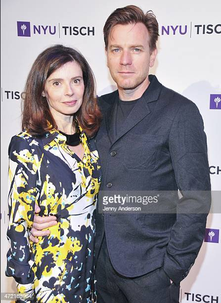 Eve Mavrakis and Ewan McGregor attend NYU Tisch School of The Arts 2015 Gala at Frederick P Rose Hall Jazz at Lincoln Center on May 4 2015 in New...