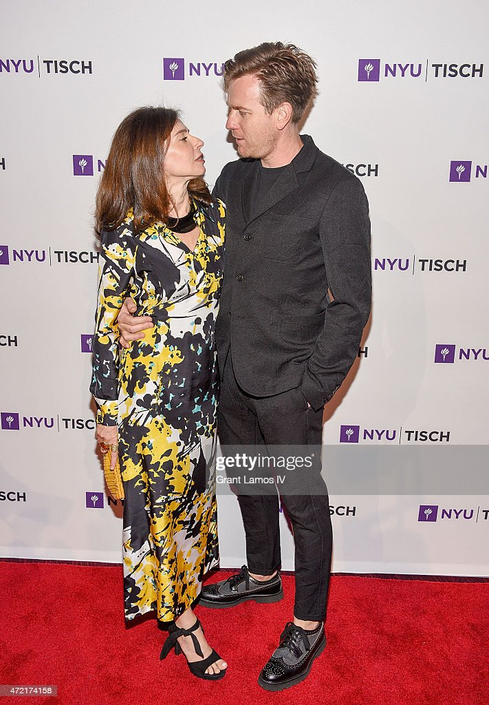 Eve Mavrakis and Ewan McGregor attend the NYU Tisch School Of The Arts 2015 Gal at Frederick P. Rose Hall, Jazz at Lincoln Center on May 4, 2015 in New York City.