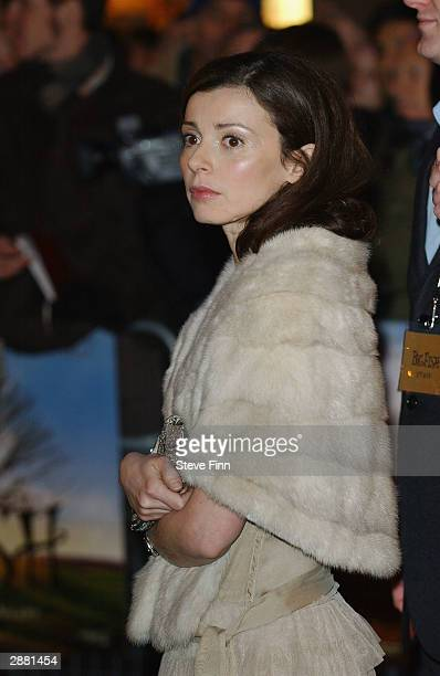 Eve Mavrakis wife o fEwan McGregor arrives for the UK Premiere of 'Big Fish' at the Warner Village West End on January 19 2004 in London
