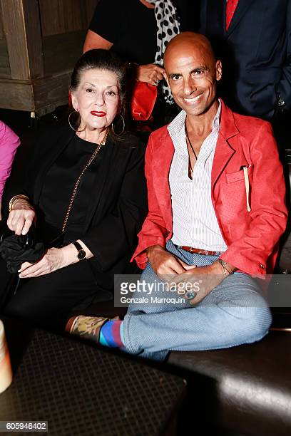 Eve Mayer and Simeone Scaramozzino Tahor Group's #TLVRUNWAYNYC at TAO Downtown on September 15 2016 in New York City