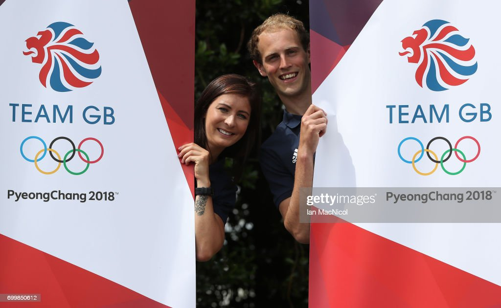Eve Muirhead and Kyle Smith pose for photographs after being amongst the first athletes selected to represent Great Britain at PyeongChang 2018, on June 22, 2017 in Edinburgh, Scotland.