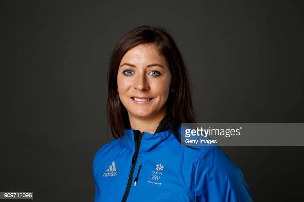 Eve Muirhead poses at The Team GB Kitting Out Ahead Of Pyeongchang 2018 Winter Olympic Games on January 24 2018 in Stockport England