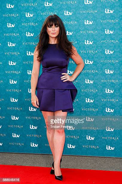 Eve Myles arrives for the premiere screening of ITV's Victoria at The Orangery on August 11 2016 in London England