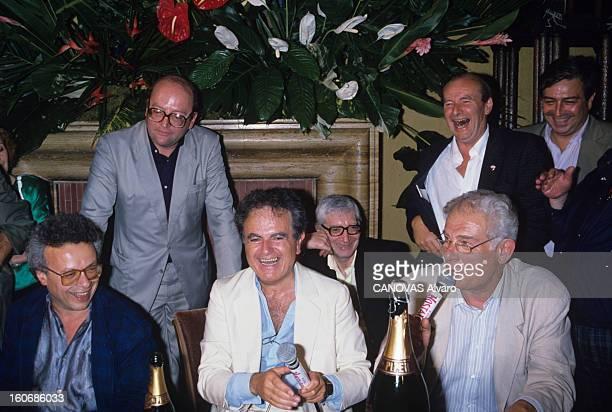 Eve Of July At Guy Beart. France, Garches, juillet 1988, le chanteur Guy BEART invente le 'réveillon de juillet' et donne une soirée dans sa maison....