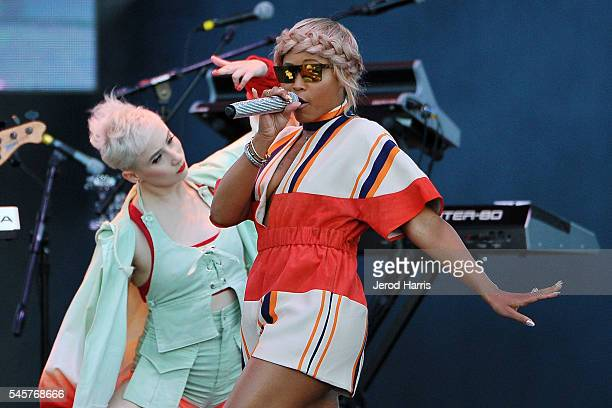 Eve performs at the 2016 MLB AllStar Concert Featuring Gwen Stefani and Eve at PETCO Park on July 9 2016 in San Diego California