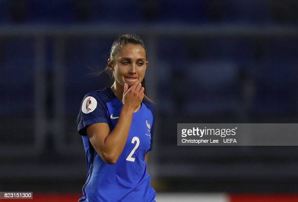 Eve Perisset of France leaves the field after being sent off during the UEFA Women's Euro 2017 Group C match between Switzerland and France at Rat...