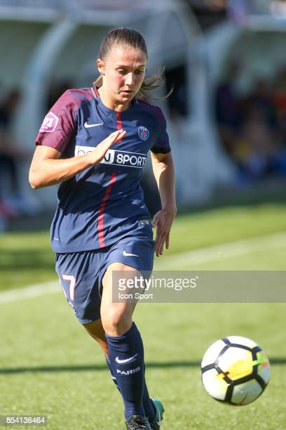 Eve Perisset of PSG during the French Women's Division 1 match between ParisSaint Germain and Lille at Camp des Loges on September 24 2017 in Paris...
