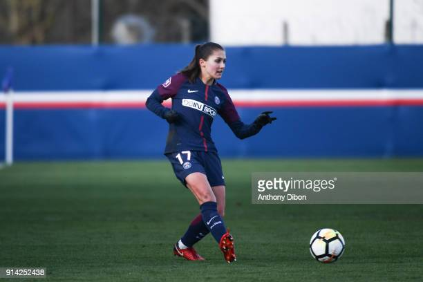 Eve Perisset of PSG during the Womens Division 1 match between Paris Saint Germain PSG and Guingamp on February 4 2018 in Paris France