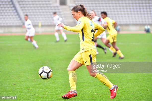 Eve Perisset of PSG during the Women's National Cup match between Paris FC and Paris Saint Germain at Stade Charlety on January 27 2018 in Paris...