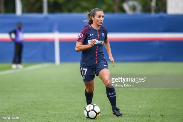 Eve Perisset of PSG during women's Division 1 match between Paris Saint Germain PSG and Soyaux on September 3 2017 in Paris France