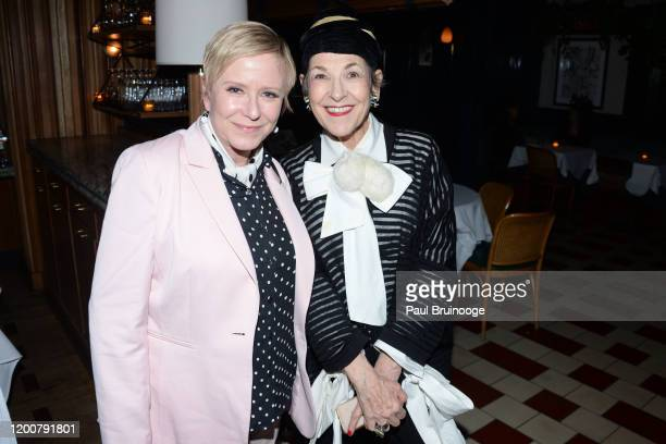 Eve Plumb and Aamito Lajun attend MAC Nordstrom And The CFDA Host The After Party For The Times Of Bill Cunningham at Bistrot Leo on February 13 2020...