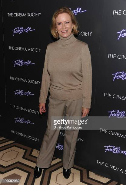 Eve Plumb attends the Cinema Society screening of Footloose at the Tribeca Grand Hotel Screening Room on October 12 2011 in New York City