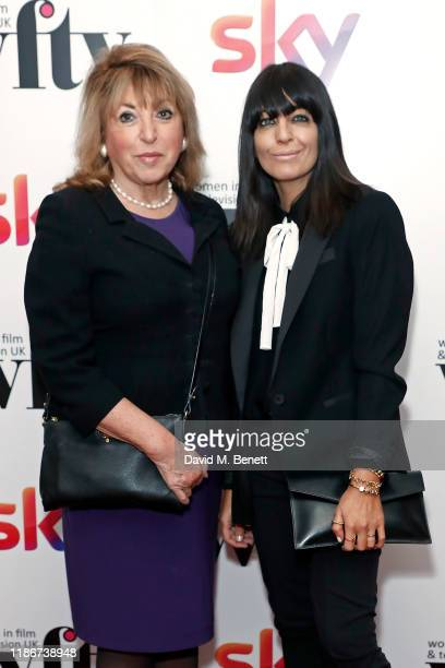 Eve Pollard and Claudia Winkleman attend the Women in Film and TV Awards 2019 at Hilton Park Lane on December 06, 2019 in London, England.
