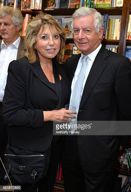 """Eve Pollard and Nicholas Lloyd attend the launch of Sandra Howard's new book """"Tell The Girl"""" at Daunt Books on July 7, 2014 in London, England."""