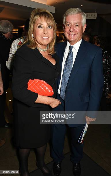 Eve Pollard and Nicholas Lloyd attend the press night of Pure Imagination The Songs of Leslie Bricusse at the St James Theatre on September 29 2015...