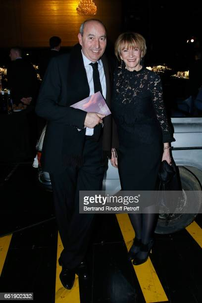 Eve Ruggieri and her companion Rachid Khimoune attend the AROP Charity Gala with the representation of 'Carmen' at Opera Bastille on March 10 2017 in...